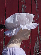 Girls VICTORIAN Edwardian Regency MOP CAP Tudor Maid Costume School Panto play