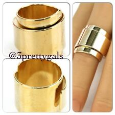 NEW WIDE DOME THICK BAND RING GOLD size 7.5