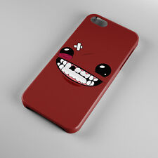 New Super Meat Boy Face Video Game For iPhone 5s 5 4S 4 Hard Case Cover