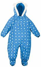 Baby Boys TRESPASS Waterproof Blue All in One Snow Ski Suit Age 6-24 months
