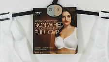 NEW MARKS AND SPENCER NON WIRED TOTAL SUPPORT SMOOTHING BACK FULL CUP BRA