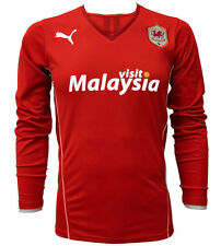 CARDIFF CITY FC RED HOME 2013/14 LONG SLEEVED PUMA FOOTBALL SOCCER SHIRT JERSEY