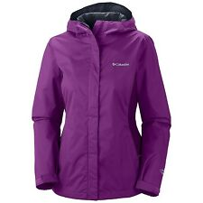$90 COLUMBIA WOMENS ARCADIA II WATERPROOF RAIN JACKET COAT PURPLE RAZZLE PLUM