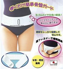 JAPAN PELVIS/LOWER BACK BELT/SUPPORT/SUPPORTER NATURAL RUBBER ROSE LAVENDER