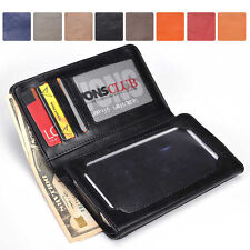 Men-s / Unisex Bi-Fold Bicast Leather Wallet Case M|A5 fits Mobile Smart-Phone