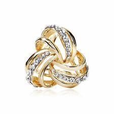 Scarf Jewelry Gold / Silver Clear Rhinestone Celtic Knot Silk Scarf Ring Holders