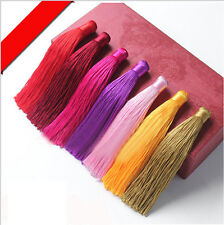 5 x Silky 12cm Cotton Tassels -Colorful Curtains Cushion Crafts Card Making Sale