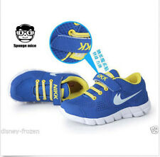 BLUE Child Sport Shoes Boys And Girls Sneakers Children's Running Shoes 25-37