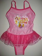 Girls Disney Princess tutu swimming costume ages 2-3, 3-4, 4-5, 5-6 and 6-7 BNWT