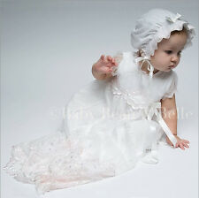 "Baby Beau & Belle ""Joli/Joli White"" girls Christening, Blessing, Baptism gown"