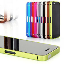 Luxury Ultra Thin Metal Aluminium Alloy Bumper Frame Case Cover for iPhone 5 5S