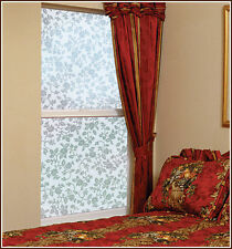 White Floral Flowers Adhesive-Free Stained Glass Window Film Cling
