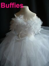 Girls Tutu Dress Princess Dress with Feathers Fairy Dress Ages 4-9 Years
