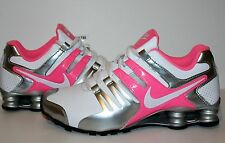 Nike Shox Current White Pink Glow Gry Silver #639657 102 Womens Running Shoes sz