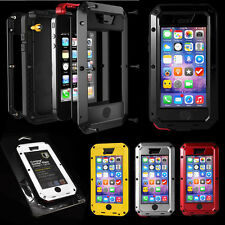 New Aluminum Metal Gorilla Glass Cover Case for iPhone 5C Waterproof Shockproof