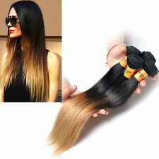 """50g Ombre color 1b/27# Brazilian 10""""30""""Straight human hair Extensions weave"""