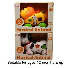 Electronic Musical Animal Lion or Dog Flashing Lights & Sound 12+months Toy