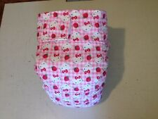 Adult Baby Diaper, Hello Kitty Pink Gingham, Fully Functional AIO, Extra Padding