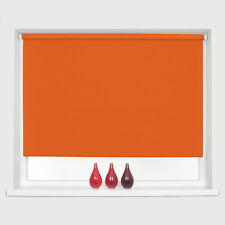 Made to measure Thermal BRIGHT ORANGE Blackout Roller Blind Free Postage