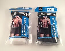 NIP ADIDAS MENS 2 PACK ATHLETIC STRETCH CLIMALITE UNDERWEAR $22