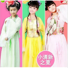 Hot! Chinese Ancient Fairy & Child Princess Dramaturgic Show Costume Robe Dress