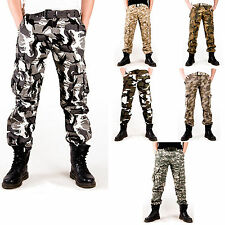 Combat Camouflage Pants Military Army Cargo Fatigue Trousers Cotton Camo Pants
