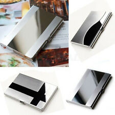 Stainless Steel Aluminium office Business ID Name Credit Card Holder Case
