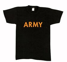 US Army T-shirt Classic BLACK & Gold Infantry Cavalry Armor Airborne PT Workout