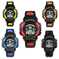 Men's Boys' Date Alarm Stopwatch Sports Military LED Digital Rubber Wrist Watch