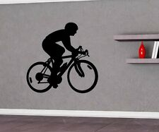 Wall decal cycling cyclist bike sports sticker wall portrait 5G014