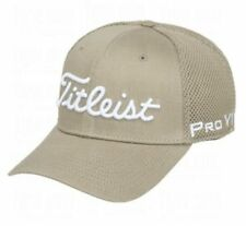 New Titleist Golf FJ/Pro V1 Structured Sports Mesh Hat Golf Cap Fitted Khaki