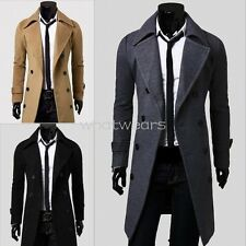 Stylish Mens Fashion Double-breasted Slim Fit Coats Long Jackets Suit W2114 MUK