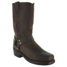 """Dingo Mens JAY 11"""" Snoot Toe Harness Motorcycle Boots Gaucho Leather DI19074"""