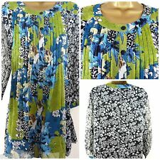 NEW ULLA POPKEN TOP BLOUSE TUNIC BLACK GREEN TEAL FLORAL £55 PLUS SIZE 14 - 38