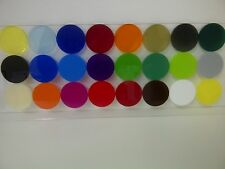 LARGE CIRCLES OF CAST ACRYLIC ORIGINAL PERSPEX 250 TO 800MM DIAMETER X 5MM THICK