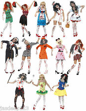 Halloween Fancy Dress Zombie Costumes Womens Ladies Horror Adult Outfit Scary