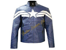 Captain America Winter Soldier 2014  Faux Leather Jacket New Fashion BNWT