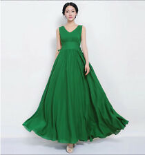 Summer Women Sexy Bohemian V Neck Chiffon Ball Evening Party Long Maxi Dresses