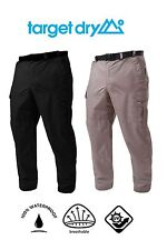 Target Dry Expedition Mens Tailored Waterproof Breathable Lined Trousers w/Belt