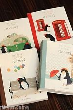 kawaii The STORY of the PENGUINS cartoon illustrated notebook diary school book