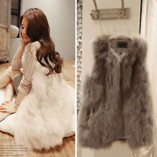 Gift Faux Fur Shaggy Vest Gilet Great Sleeveless Coat Outerwear Markdown Cool