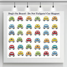 Dog on Board - Do Not Tailgate! Car Truck Magnet, Choose Your Breed (1st Set)