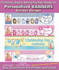 Personalised Baptist, Christening,  Naming Day, Baby Shower Banners Banners
