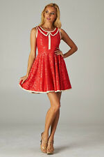 Modcloth Minuet Red Collar Lace Dress Size Small and Medium; NWT