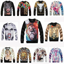 Fashion Mens/Women 3D Printed T-shirt Hip Hop Long Sleeved Sweatshirt Hoodie New
