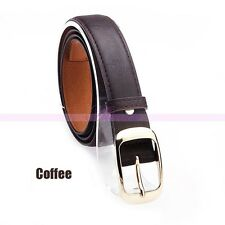 7 Colors Womens Lady Paint Leather Alloy Pin Buckle Waist Strap Belts Waistband