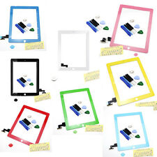 Touch Screen Glass Digitizer Replacement w/ Home Button Adhesive for iPad 2 Tool