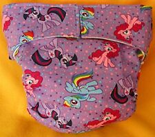 AIO (All In One) Adult Baby Reusable Cloth Diaper S,M,L,XL My Little Pony
