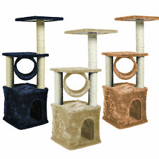"3 Color Deluxe Cat Tree 36"" Condo Furniture Scratching Post Pet House"
