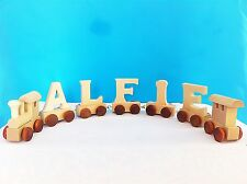 Wooden Personalised Train Alphabet Letters Names For Birthday Christening Gift